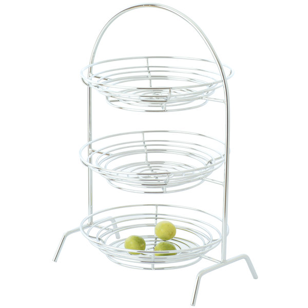 """Clipper Mill by GET IR-507C 3-Tier Chrome Plated Iron Riser - 20 1/4"""" x 10"""" x 27"""""""