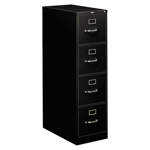 Hon 314pp 310 Series Black Four Drawer Full Suspension