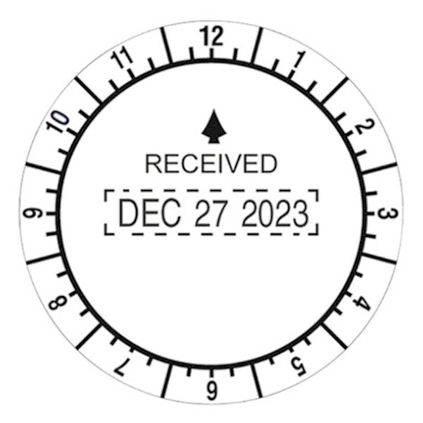 Trodat Usst2910 2 Diameter Round Conventional Time And Date Received Stamp