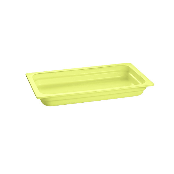"Tablecraft CW300LG 20 3/4"" x 12 3/4"" x 2 1/2"" Lime Green Full Size Cast Aluminum Food Pan"