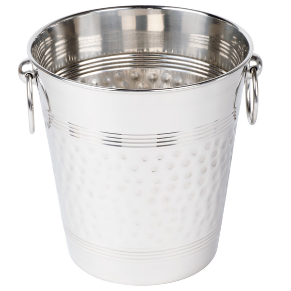 American Metalcraft WB9 5 Qt. Hammered Stainless Steel Wine Bucket Main Image 1