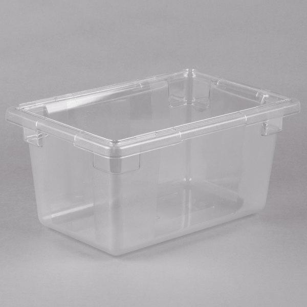 Choice 18 inch x 12 inch x 9 inch Clear Plastic Food Storage Box