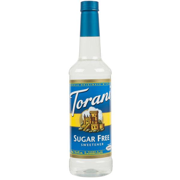 Torani 750 mL Sugar Free Sweetener Sweetener Syrup Main Image 1
