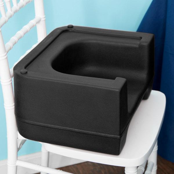 Carlisle 7114-103 Black Plastic Booster Seat - Dual Seat