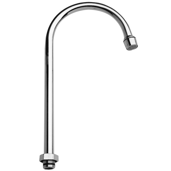 """Fisher 14559 12"""" Rigid Gooseneck Spout with 5 GPM Aerator"""