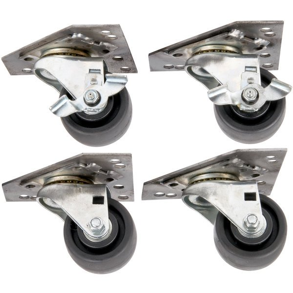 SunFire 1951226-0002 Casters for SCO Series Double Deck Gas Ovens - 4/Set Main Image 1