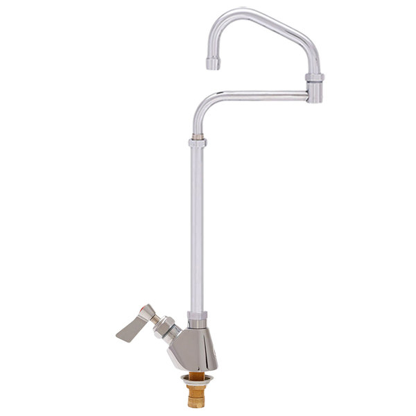 """Fisher 60003 Deck Mounted Kettle Filler with 15"""" Double-Jointed Swing Nozzle, 2.2 GPM Aerator, and Lever Handle"""