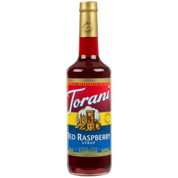 Torani 750 mL Red Raspberry Flavoring Syrup