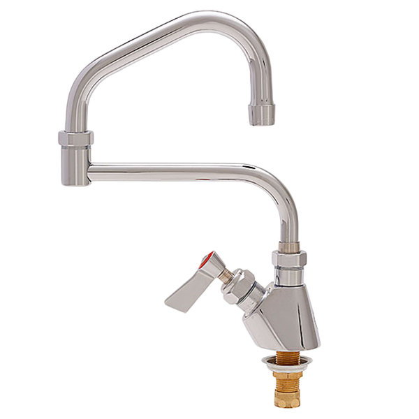 "Fisher 47686 Deck Mounted Faucet with 15"" Double-Jointed Swing Nozzle, 2.2 GPM Aerator, and Lever Handle"