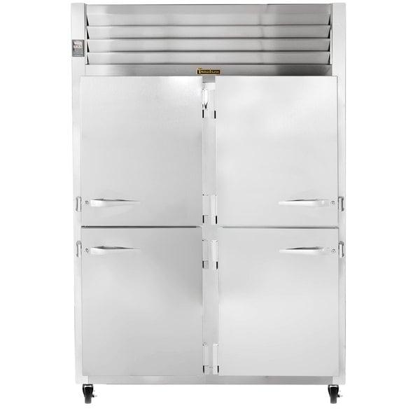 Traulsen G20001 2 Section Half Door Reach In Refrigerator - Right / Left Hinged Doors Main Image 1