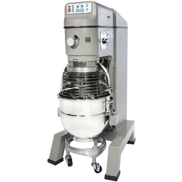 Globe SP62P-4 Gear Driven 60 Qt. Commercial Planetary Floor Mixer with 4 Speeds - 208V, 3 Phase Main Image 1