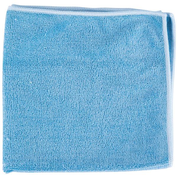 "Microfiber Cloth Guide: Unger MF40B SmartColor MicroWipe 16"" X 15"" Blue Heavy-Duty"