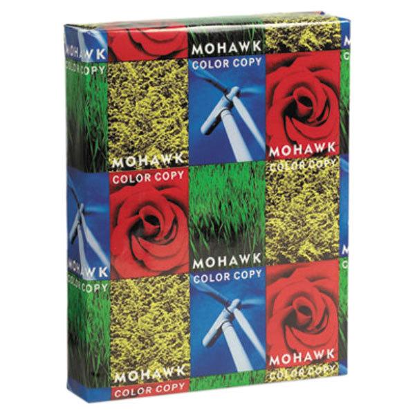 """Mohawk 12214 Fine 8 1/2"""" x 11"""" Bright White Ream of 80# Copy Paper - 250 Sheets Main Image 1"""