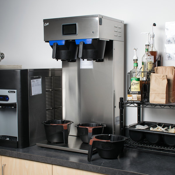 Curtis G4CBHT Dual 3 or 1.5 Gallon Combination Tea / Coffee Brewer - 220V
