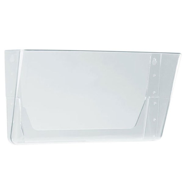 Storex 70213U06C Clear 1 Pocket Letter Sized Wall File Main Image 1