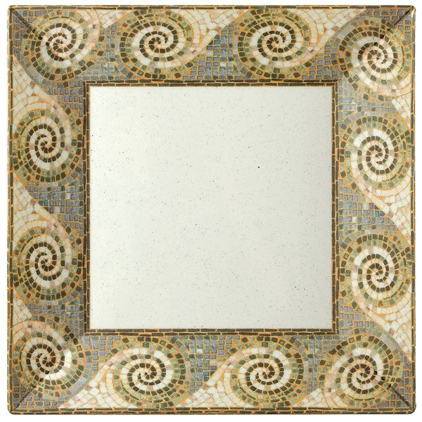 "GET ML-90-MO 12"" Square Mosaic Plate - 6/Case"