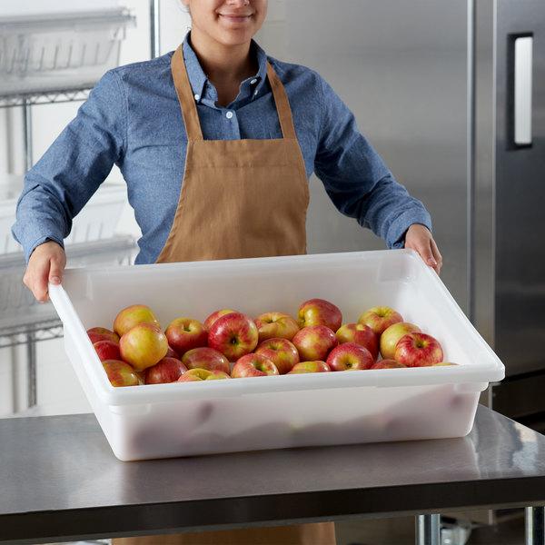 "Choice 26"" x 18"" x 6"" White Plastic Food Storage Box Main Image 2"