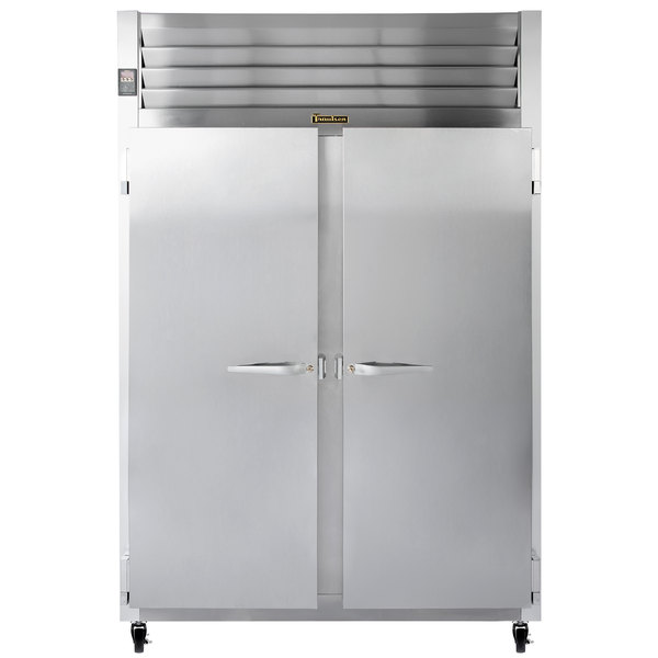 """Traulsen G20010 52"""" G Series Two Section Solid Door Reach-In Refrigerator with Left / Right Hinged Doors - 46 cu. ft."""