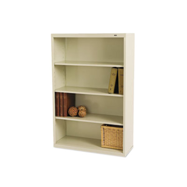 "Tennsco B53PY Putty 4 Shelf Metal Bookcase - 34 1/2"" x 13 1/2"" x 52 1/2"" Main Image 1"