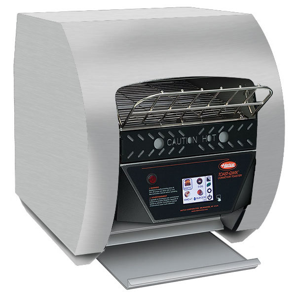 """Hatco TQ3-400 Toast-Qwik Stainless Steel Conveyor Toaster with 2"""" Opening and Digital Controls - 120V, 1780W"""