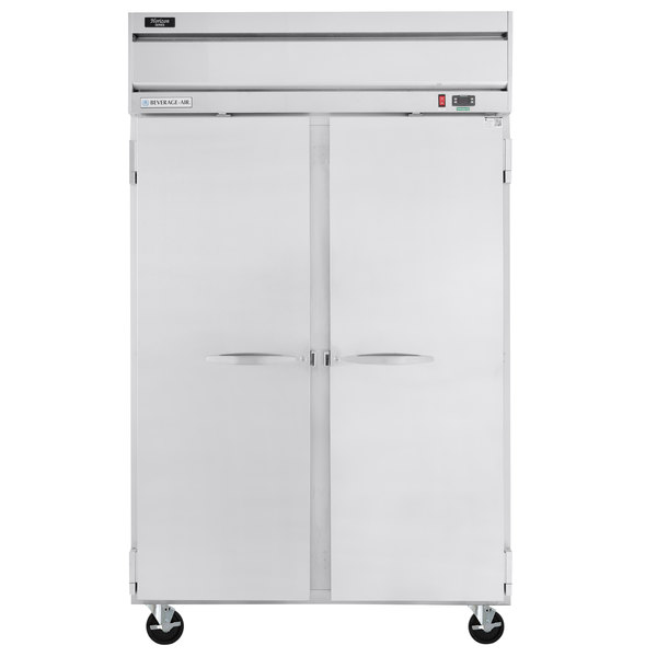 "Beverage-Air HR2-1S Horizon Series 52"" Top Mounted Solid Door Reach-In Refrigerator Scratch and Dent"