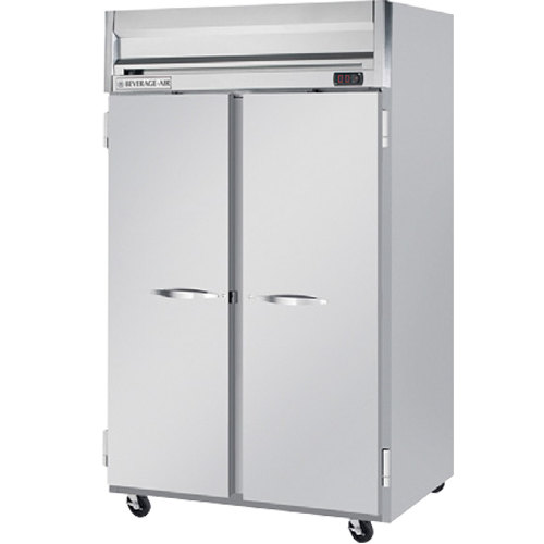 Beverage Air HR2-1S 52 inch Horizon Series Two Section Solid Door Reach-In Refrigerator - 49 cu. ft.