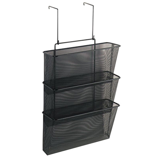 "Fellowes 75901 Partitions Additions Black 3-File Pocket Organizer - 12 5/8"" x 8 1/4"" x 23 1/4"" Main Image 1"