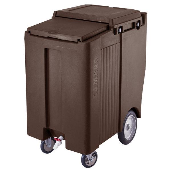 Cambro ICS200TB131 SlidingLid™ Dark Brown Portable Ice Bin - 200 lb. Capacity Tall Model