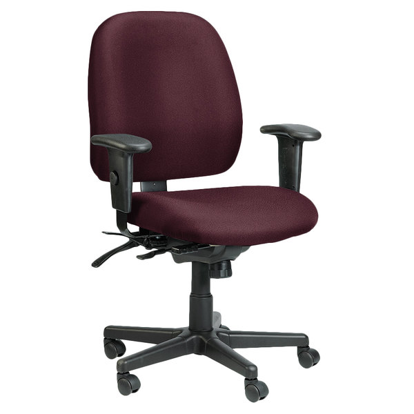 Admirable Eurotech 49802A At31 4X4 Series Burgundy Fabric Mid Back Multifunction Swivel Office Chair Machost Co Dining Chair Design Ideas Machostcouk