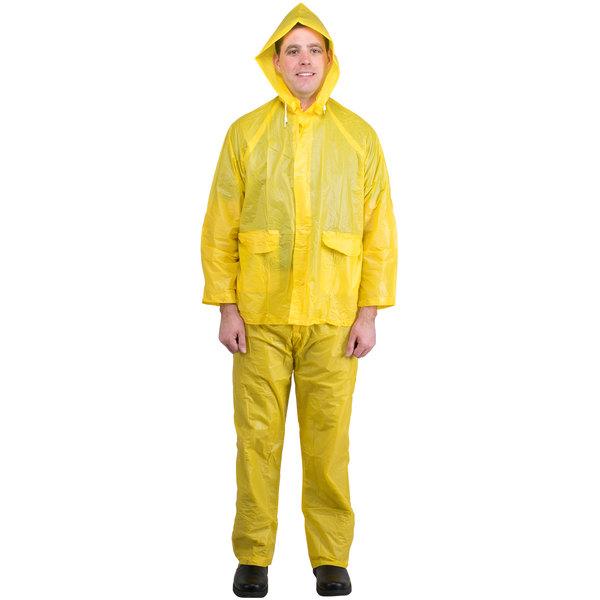 Yellow Economy 3 Piece Rainsuit - Medium
