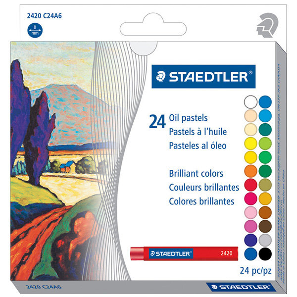 Staedtler 2420C24A6 24-Color Assorted Oil Pastel Set