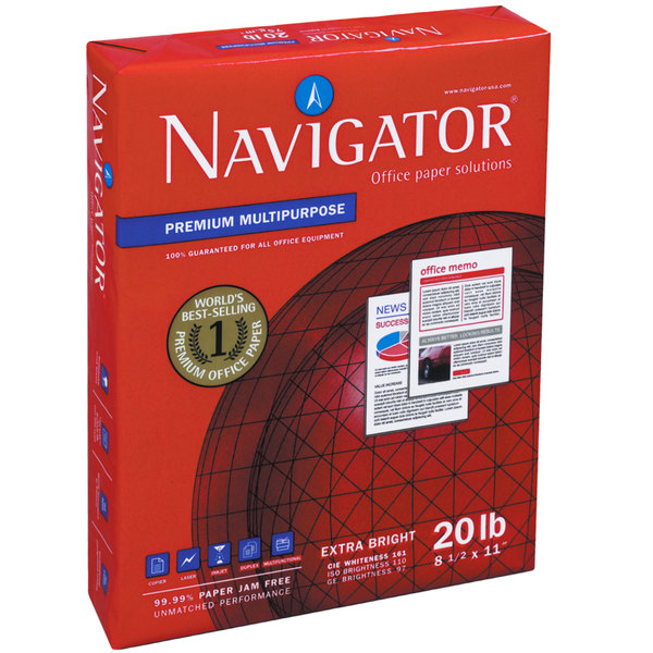 Navigator Nmp1720 11 X 17 White Case Of 20 Premium Multipurpose Paper 2500 Sheets