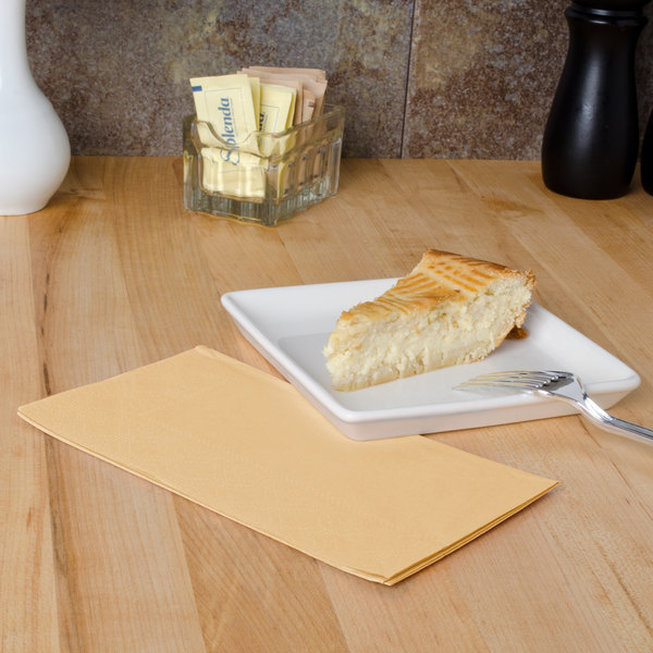 "Hoffmaster 180543 Beige 15"" x 17"" 2-Ply Paper Dinner Napkin - 125/Pack Main Image 4"