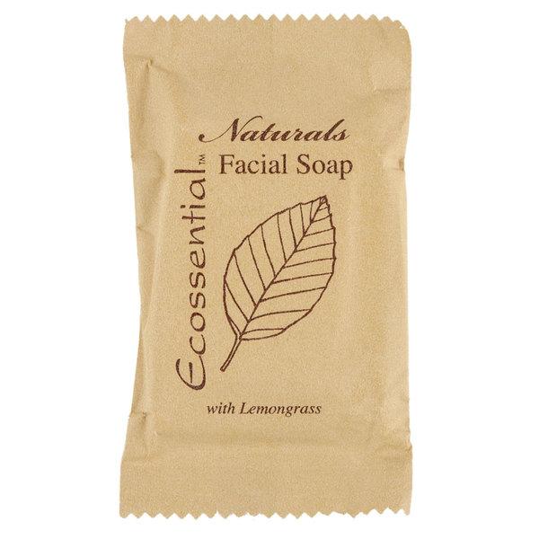 Ecossential Naturals Hotel and Motel Facial Soap 0.53 oz. Bar  - 400/Case