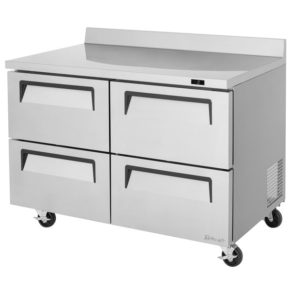 """Turbo Air TWF-48SD-D4 Super Deluxe 48"""" Worktop Freezer with Four Drawers"""
