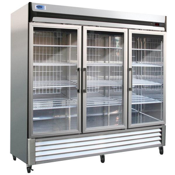 "Nor-Lake NLR72-G AdvantEDGE 78"" Three Glass Door Reach-In Refrigerator - 72 Cu. Ft."