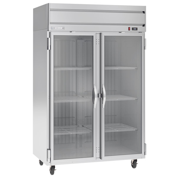 "Beverage-Air HFP2-1G Horizon Series 52"" Glass Door Reach-In Freezer with LED Lighting"
