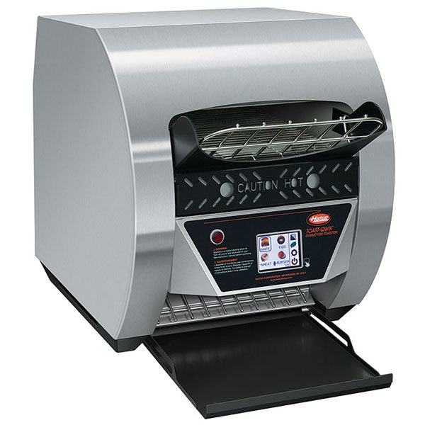 "Hatco TQ3-500 Toast-Qwik Stainless Steel Conveyor Toaster with 2"" Opening and Digital Controls - 208V, 2220W"