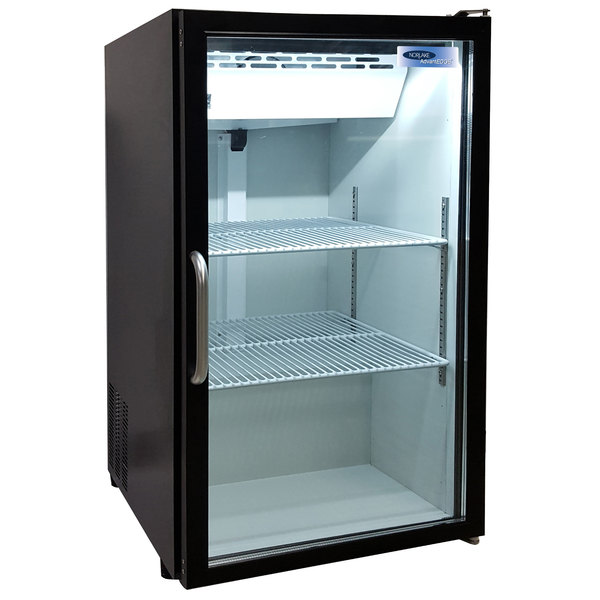 Nor-Lake NLCTM7-B AdvantEDGE Black Countertop Display Refrigerator with Swing Door - 7 Cu. Ft.
