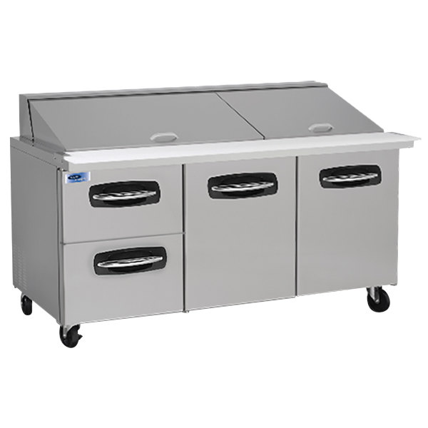 "Nor-Lake NLSMP72-30-003 AdvantEDGE 72 3/8"" Mega Top 2 Door / 2 Drawer Refrigerated Sandwich Prep Table"