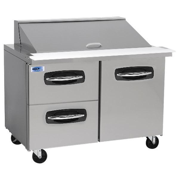 "Nor-Lake NLSMP48-18-003 AdvantEDGE 48 1/4"" Mega Top 1 Door / 2 Drawer Refrigerated Sandwich Prep Table"