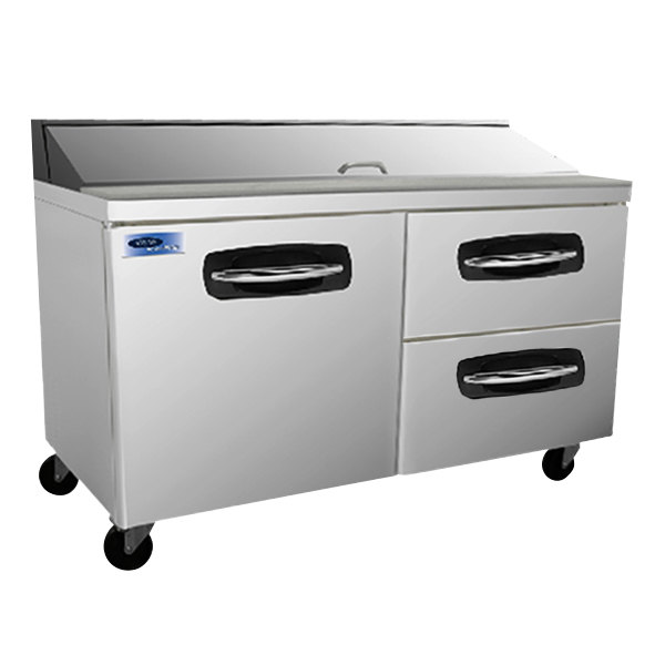 "Nor-Lake NLSP60-16-002 AdvantEDGE 60 3/8"" 1 Door 2 Drawer Refrigerated Sandwich Prep Table"