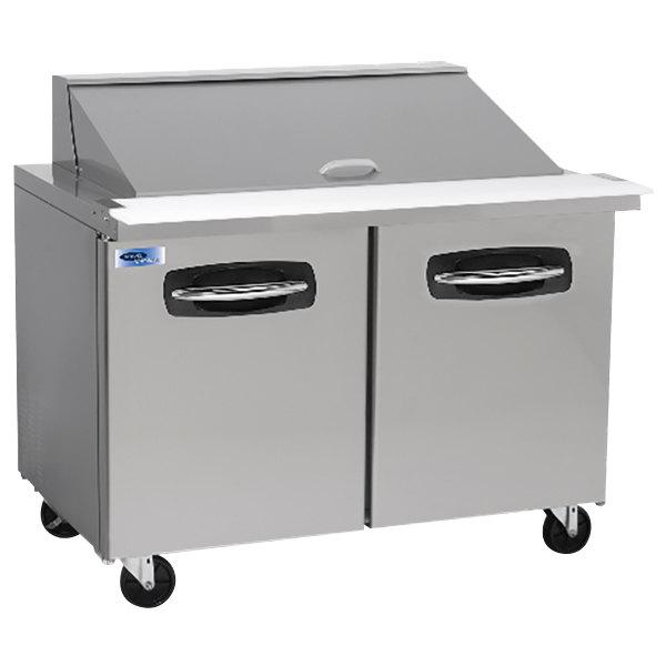 "Nor-Lake NLSMP48-18 AdvantEDGE 48 1/4"" Mega Top 2 Door Refrigerated Sandwich Prep Table"