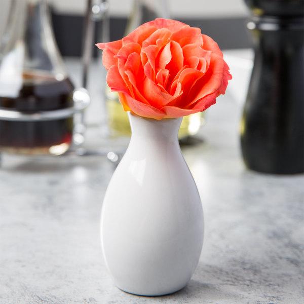 "Core 3 3/4"" Bright White Porcelain Jug Bud Vase"