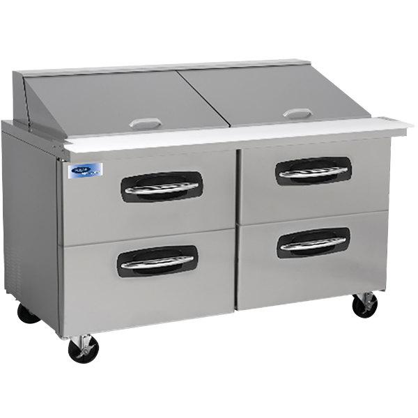 "Nor-Lake NLSMP60-24-001 AdvantEDGE 60 3/8"" Mega Top 4 Drawer Refrigerated Sandwich Prep Table"