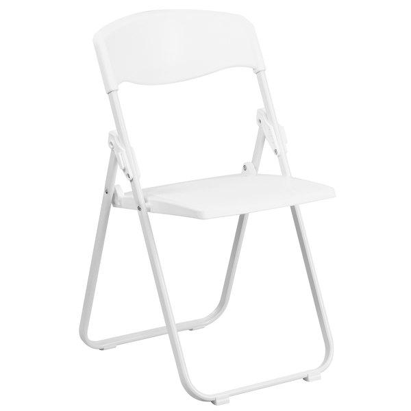 Flash Furniture RUT I WHITE GG Hercules White Heavy Duty Plastic Folding  Chair