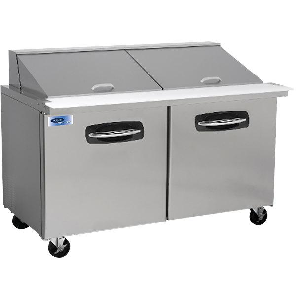 "Nor-Lake NLSMP60-24 AdvantEDGE 60 3/8"" Mega 2 Door Refrigerated Sandwich Prep Table Main Image 1"