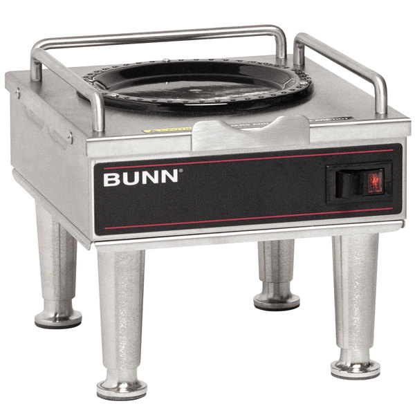 Bunn 12203.0014 RWS1 Coffee Server Warmer with Satin Nickel Legs - 120V Main Image 1