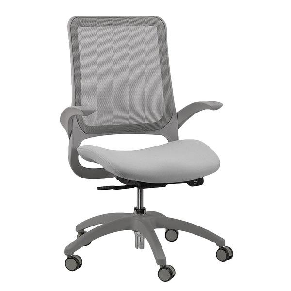 Eurotech MF22 Hawk Series Grey Mesh Mid Back Swivel Office Chair Main Image 1