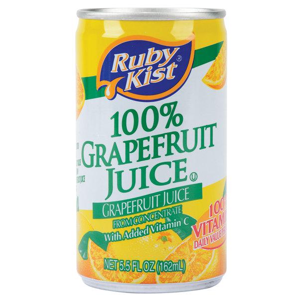 Ruby Kist 5.5 fl. oz. Grapefruit Juice - 48/Case